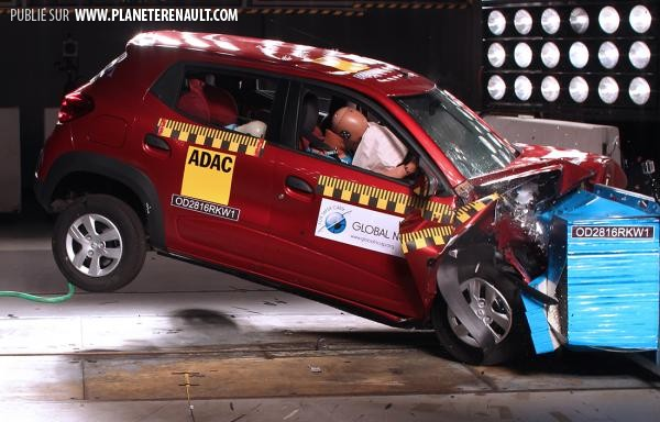 Crash test Kwid 2016 Renault
