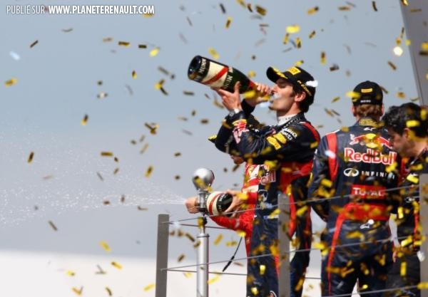 Mark Webber Podium GP Grande Bretagne